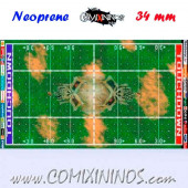 Skulls Neoprene Mousepad Pitch of 34 mm Squares with NO Dugouts - Comixininos
