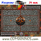 Evil Dwarf Neoprene Mousepad Pitch of 34 mm Squares WITH Dugouts - Comixininos