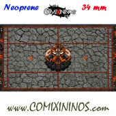 Evil Dwarf Neoprene Mousepad Pitch of 34 mm Squares with NO Dugouts - Comixininos