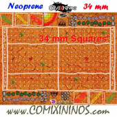Mud Neoprene Mousepad Pitch of 34 mm Squares WITH Dugouts - Comixininos