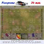 Neoprene Mousepad Pitch of 34 mm Squares WITH Dugouts - Wargamers Whims