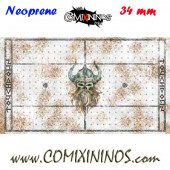 Norse Snow Neoprene Mousepad Pitch of 34 mm Squares with NO Dugouts - Comixininos
