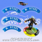 Set of 4 Blue Nerves of Steel Puzzle Skills for 32 mm Bases - Comixininos