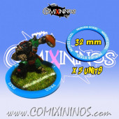 Set of 5 Nerves of Steel Skill Rings for 32 mm Bases - Comixininos