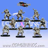 Norses - Resin Set of 7 GoN Linemen and 2 Throwers - Fanath Art