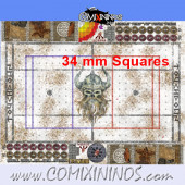 34 mm Norse Snow Plastic Gaming Mat with BB7 and Crossed Dugouts - Comixininos