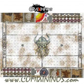 29 mm Norse Snow Plastic Gaming Mat with Crossed Dugouts - Comixininos