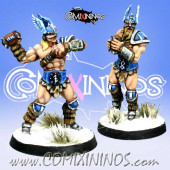 Norses - Resin Set of 2 Norse Throwers - Meiko Miniatures