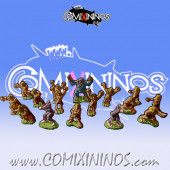 Magnetic Norse Team for Mini-BB of 16 Players with Snow Troll