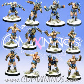Norses - Resin Norse Team of 12 Players - Meiko Miniatures