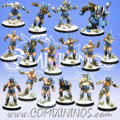 Norses - Resin Norse Team of 16 Players with Snow Troll - Meiko Miniatures