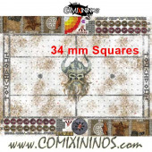 34 mm Norse Snow Plastic Gaming Mat with Crossed Dugouts - Comixininos
