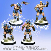 Norses - Resin Set A of 4 Norse Linemen - Meiko Miniatures