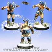 Norses - Set B of 3 Norse Linemen - Meiko Miniatures