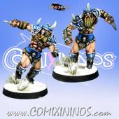 Norses - Set of 2 Norse Berserkers - Meiko Miniatures