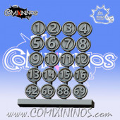 PRE-ORDER - Set of 20 Numbers for Bases - Meiko Miniatures