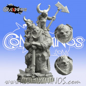 Ogres - Ogre Coach with 2 Tiny Assistants - Scibor Miniatures