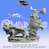 Goblins / Orcs - Bloodweiser Goblin Ambulance with Bulldog - Scibor Miniatures