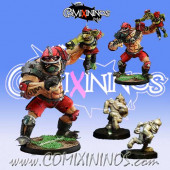 Big Guy - Ogre with 2 Goblins - Willy Miniatures
