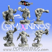 Ogres - Ogre Team of 6 Players - Scibor Miniatures