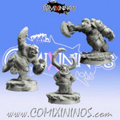 Ogres / Goblins - Set A of 3 Tinies or Goblins - Scibor Miniatures