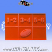 Fantasy Football Throw In Template for 29 mm Pitches - Transparent Orange