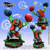 Orcs - Orc Cheerleader - Meiko Miniatures
