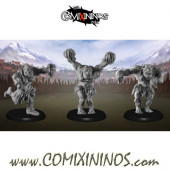 Orcs - Set of 3 Orc Cheerleaders - Punga Miniatures