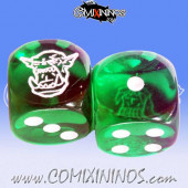 Set of 2d6 Orc Dice - Meiko