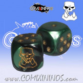Set of 2d6 Orc Dice - Willy