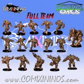 Orcs - 3D Printed Complete Team of 16 Players with Troll - RN Estudio