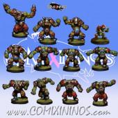 Orcs - Resin Brutos Orc Team of 12 Players - Rolljordan