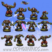 Orcs - Brutos Orc Team of 12 Players - Rolljordan
