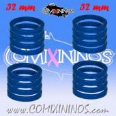 Skill Markers - Set of 16 Blue Rubber Deluxe Rings for 32 mm Bases - Comixininos