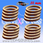 Skill Markers - Set of 16 Grey Rubber Deluxe Rings for 32 mm Bases - Comixininos