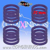 Skill Markers - Set of 16 Purple Rubber Deluxe Rings for 32 mm Bases - Comixininos