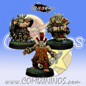Dwarves - Set of 3 Dwarven Star Players - SP Miniaturas