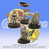 Dwarves - Set of 3 Dwarven Coaching Staff Miniatures - SP Miniaturas