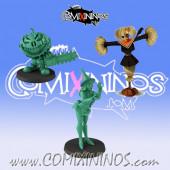 Necromantic - Halloween Necromancers  Set of 3 Coaching Staff Miniatures - Labmasu