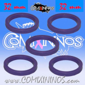 Skill Markers - Set of 5 Purple Rubber Deluxe Rings for 32 mm Bases - Comixininos