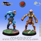 Undead / Necromantic - Set B of 2 Ghouls nº 3 and 4 - Mano di Porco