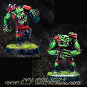 Orcs - Set of 2 Metal Orc Linemen - Necrom Studio