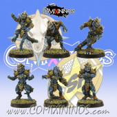 Lizardmen - Set of 6 Lizaurus - SP Miniaturas