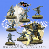 Lizardmen - Set of 6 Baby Lizards and Big Guy - SP Miniaturas