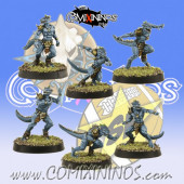 Lizardmen - Set of 6 Baby Lizards - SP Miniaturas