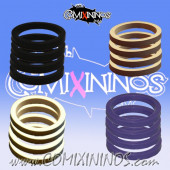 Skill Markers - Set of 16 Multi Color Rubber Deluxe Rings for 25 mm Bases / Purple Included - Comixininos