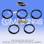 2016 Edition - Set of 5 Pass Block Skill Rings for 25 mm Bases - Comixininos