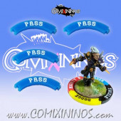 Set of 4 Blue Pass Puzzle Skills for 32 mm Bases - Comixininos