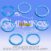 Set of 7 Passing Skill Rings for 25 mm Bases - Blue