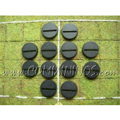 Set of Twelve 25 mm Standard Bases